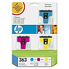 Hewlett Packard NO 363 CMY INK CARTRIDGE,  3-PACK