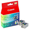 Canon BCI-16CL, 2pack Colour Ink Cartridge