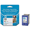 Hewlett Packard INK CARTRIDGE COLOR NO.22/5ML