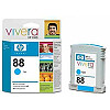 Hewlett Packard NO 88 CYAN INK CARTRIDGE, 1700 PGS