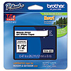 "Brother TZ-E131 1/2"" Black on clear label tape"