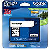 Brother TZ-E241, 18mm, black on white, adhesive, p-touch tape