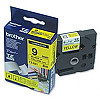 Brother TZ-E621, 9mm, black on yellow, adhesive, p-touch tape