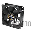 TITAN CASE FAN 80X80X25MM, Z-BEARING
