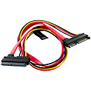 4World SATA 22pin F -> SATA 22pin M, 0.5m