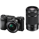 Sony A6000 Double Zoom Kit, Black, 16-50mm + 55-210mm