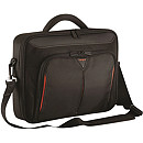 "Targus Classic+ Clamshell Case, 18"", Black/Red"