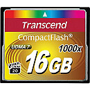 Transcend CompactFlash, 16GB, 1000x