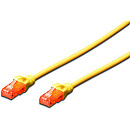 Digitus CAT 6 UTP Patch Cable, 0.5m, Yellow