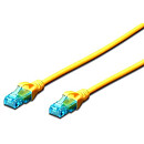 Digitus CAT 5e UTP patch cable, 0.5m, Yellow