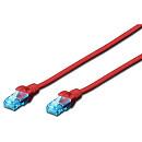 Digitus CAT 5e UTP patch cable, 0.5m, Red