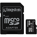 Kingston microSDHC, 8GB, Class 10 UHS-I, Industrial + SD Adapter
