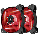 Corsair Air Series SP140 High Static Pressure, Red LED (Twin Pack)