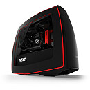 NZXT Manta, Window, Matte Black/Red