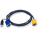 Aten KVM Cable (HD15-SVGA, USB, USB), 3m