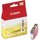 Canon CLI-8Y Yellow Ink for Pixma iP3300/4200/4300/5200/5300/6600/6700, iX4000/5000, MP500/510/530/600/800/810/830/950/960, Pro9000