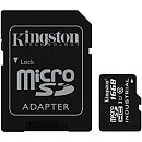 Kingston microSDHC, 16GB, Class 10 UHS-I, Industrial + SD Adapter