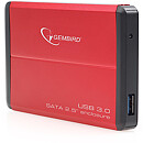 "Gembird EE2-U3S-2 External 2.5"" enclosure, USB3.0, Red"