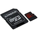 Kingston microSDHC, 32GB, UHS-I U3 + Adapter