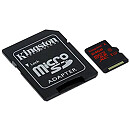 Kingston microSDHC, 64GB, UHS-I U3 + Adapter
