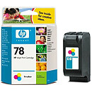 Hewlett Packard NO 78 COLOR INK CARTRIDGE, 19ML