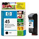 Hewlett Packard NO 45 BLACK INK CARTRIDGE, 42ML