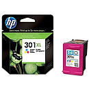 Hewlett Packard 301XL Tri-color Ink Cartridge, 330pages