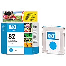 Hewlett Packard INK CARTRIDGE CYAN NO 82/C4911A