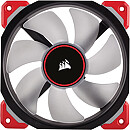 Corsair Air Series ML120 PRO Magnetic Levitation Fan, 120mm, Red LED