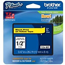 Brother TZ-E631 12mm Black on Yellow Tape for P-Touch