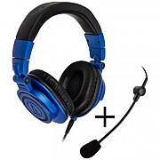 Audio-Technica ATH-M50XBB, Blue/Black + ATGM2 (GABU-219)