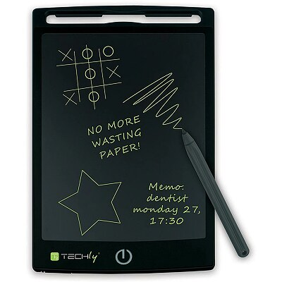 Techly Portable digital notepad tablet for writing and drawing ,8.5'', Black