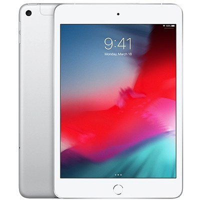 Apple iPad Mini, Wi-Fi+Cellular, 64GB, Silver, 5th Gen
